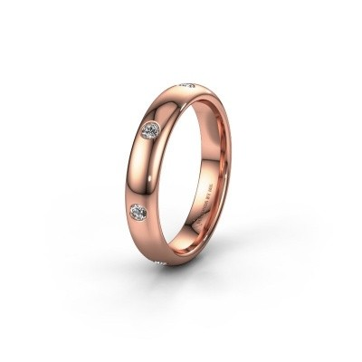 Wedding ring WH0105L34BP 585 rose gold lab-grown diamond ±4x2 mm