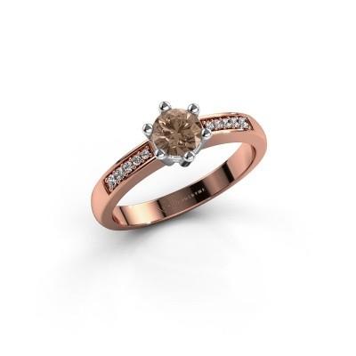 Foto van Verlovingsring Luna 2 585 rosé goud bruine diamant 0.50 crt