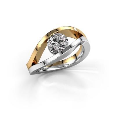 Foto van Aanzoeksring Sigrid 1 585 witgoud diamant 1.00 crt