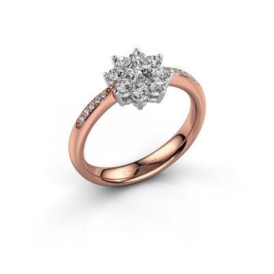 Verlovingsring Camille 2 585 rosé goud zirkonia 3.4 mm