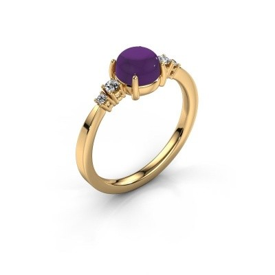 Ring Regine 585 goud amethist 6 mm
