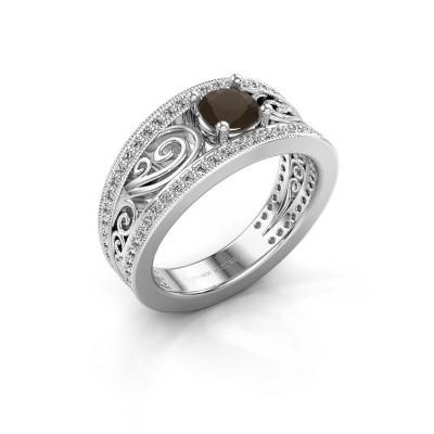 Foto van Ring Julliana 925 zilver rookkwarts 5 mm