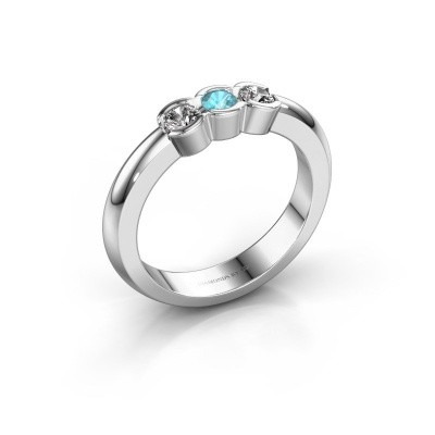 Picture of Engagement ring Lotte 3 925 silver blue topaz 3 mm