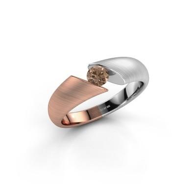 Foto van Verlovingsring Hojalien 1 585 rosé goud bruine diamant 0.25 crt
