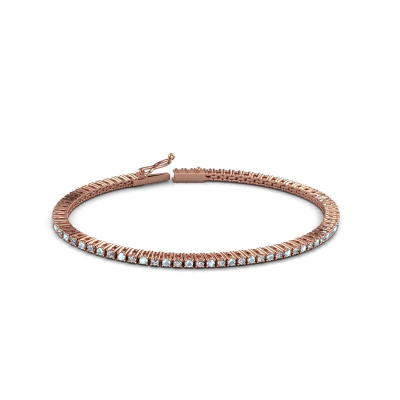 Picture of Tennis bracelet Karin 2 mm 375 rose gold aquamarine 2 mm