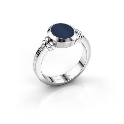 Picture of Signet ring Brenda 1 950 platinum dark blue sardonyx 10x8 mm