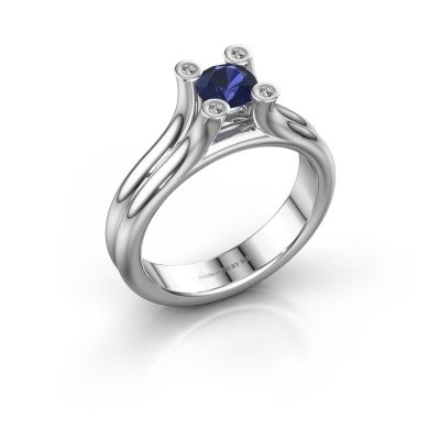 Engagement ring Stefanie 1 375 white gold sapphire 5 mm