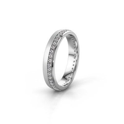Foto van Trouwring WH0303L24AM 950 platina diamant ±4x1.7 mm