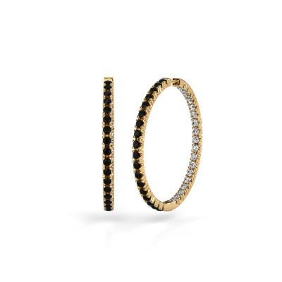 Foto van Creolen Miki 30mm 375 goud zwarte diamant 2.376 crt