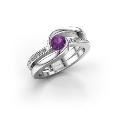 Picture of Ring Xenia 375 white gold amethyst 5 mm