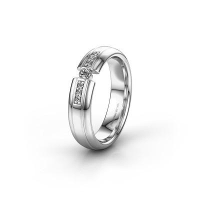 Wedding ring WH2128L26C 950 platinum diamond ±5x2 mm