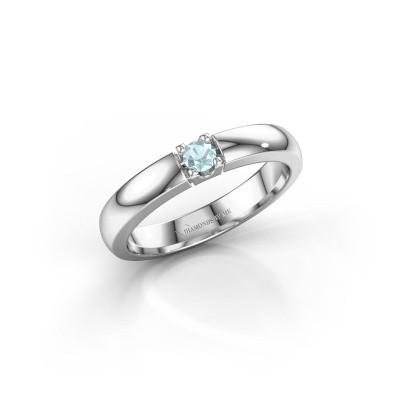 Engagement ring Rianne 1 950 platinum aquamarine 3 mm