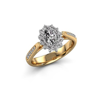 Verlovingsring Margien 2 585 goud diamant 0.50 crt