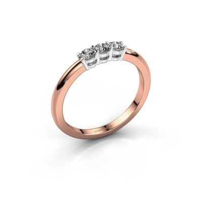 Picture of Engagement ring Michelle 3 585 rose gold lab-grown diamond 0.30 crt