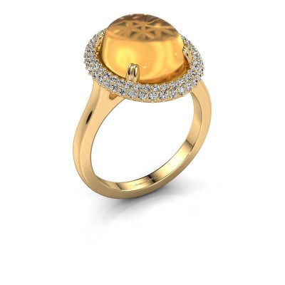 Ring Jayna 585 gold citrin 12x10 mm