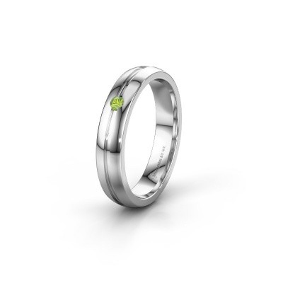 Picture of Wedding ring WH0424L24A 950 platinum peridot ±4x1.7 mm
