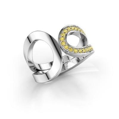 Ring Aniek 925 zilver gele saffier 1.3 mm