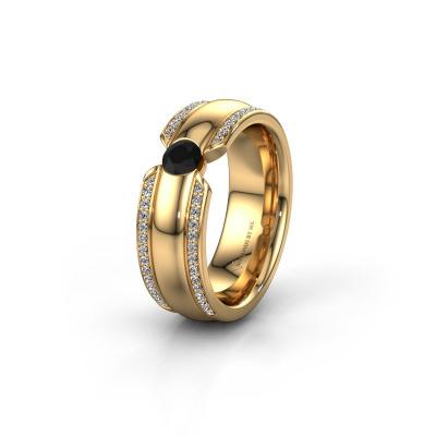 Ehering WHR0575L 585 Gold Schwarz Diamant ±7x2 mm