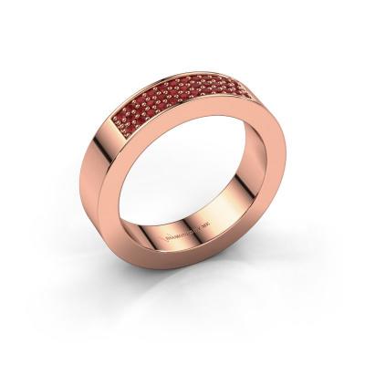 Ring Lindsey 1 585 rosé goud robijn 1.1 mm