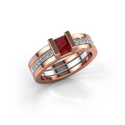 Picture of Ring Desire 585 rose gold ruby 4 mm