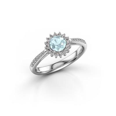 Engagement ring Tilly RND 2 585 white gold aquamarine 5 mm