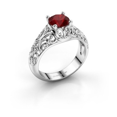 Picture of Ring Mirte 925 silver ruby 6.5 mm