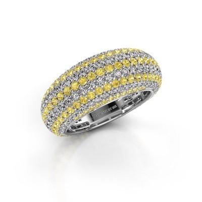 Foto van Ring Lyndia 925 zilver gele saffier 0.8 mm