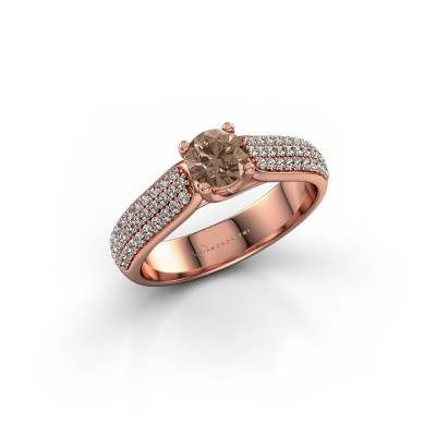 Picture of Engagement ring Leoness 375 rose gold brown diamond 0.50 crt