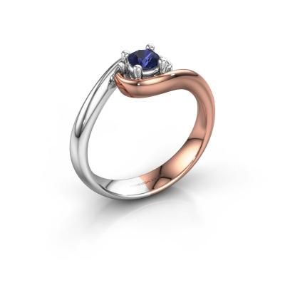 Ring Linn 585 rose gold sapphire 4 mm