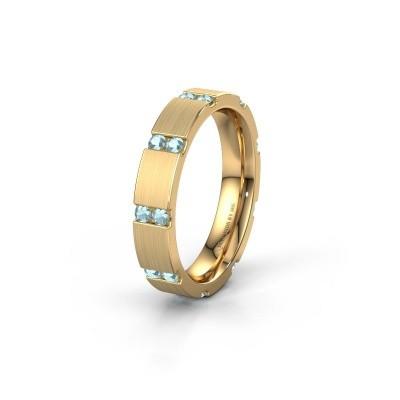 Weddings ring WH2132L14BM 375 gold aquamarine ±4x2.2 mm