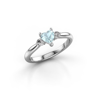 Picture of Engagement ring Lieselot HRT 950 platinum aquamarine 5 mm