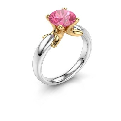 Foto van Ring Jodie 585 witgoud roze saffier 8 mm