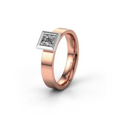 Trouwring WH2112L14A 585 rosé goud lab-grown diamant ±4x1.7 mm