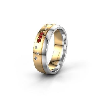 Trouwring WH0310L26AP 585 goud robijn ±6x1.7 mm
