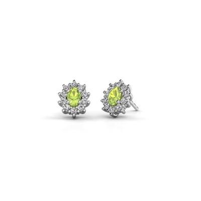 Picture of Earrings Leesa 925 silver peridot 6x4 mm