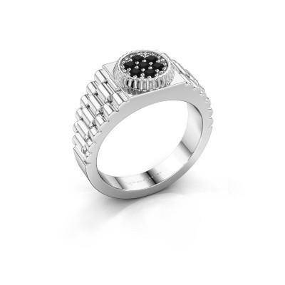 Foto van Rolex stijl ring Nout 925 zilver zwarte diamant 0.252 crt