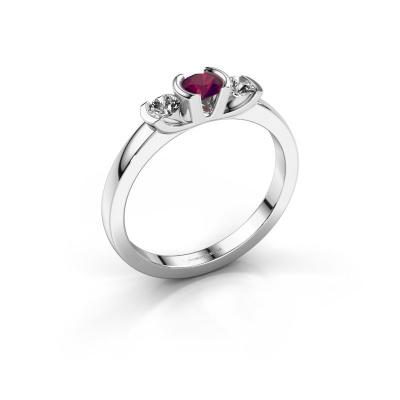 Ring Lucia 950 platinum rhodolite 3.7 mm
