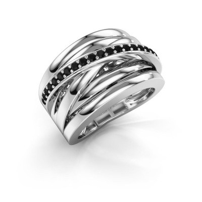 Foto van Ring Clair 1 950 platina zwarte diamant 0.378 crt