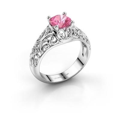 Foto van Ring Mirte 925 zilver roze saffier 6.5 mm