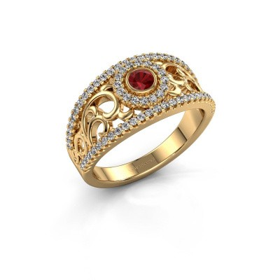 Foto van Ring Lavona 585 goud robijn 3.4 mm