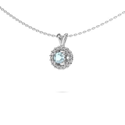 Pendant Tennille 925 silver aquamarine 4 mm
