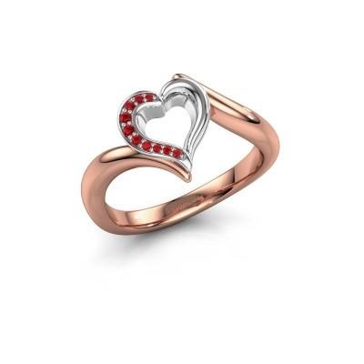 Ring Katlyn 585 Roségold Rubin 0.8 mm