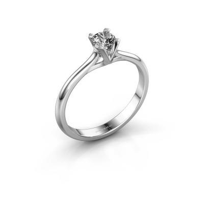 Picture of Engagement ring Isa 1 950 platinum zirconia 4 mm