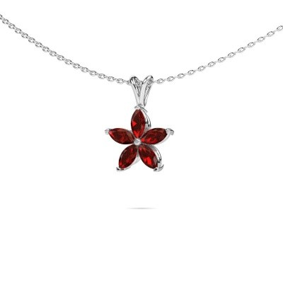 Picture of Necklace Sylvana 585 white gold garnet 5x2.5 mm