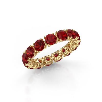 Foto van Ring Vivienne 4.2 375 goud robijn 4.2 mm