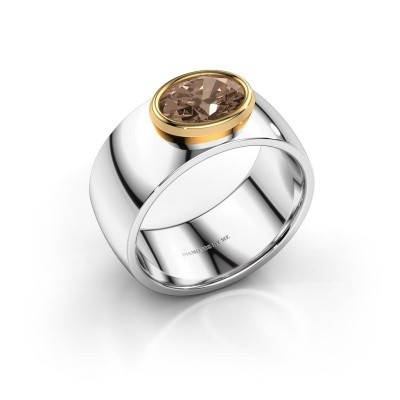 Ring Wilma 1 585 witgoud bruine diamant 1.15 crt
