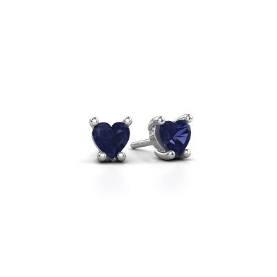 Picture of Earrings Sam Heart 585 white gold sapphire 5 mm