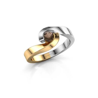 Foto van Ring Sheryl 585 goud rookkwarts 4 mm