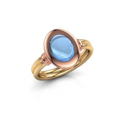 Bild von Ring Brittni 585 Gold Blau Topas 9x7 mm