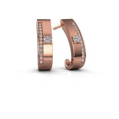 Foto van Oorbellen Vick1 375 rosé goud diamant 0.230 crt